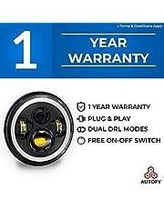 Autofy Warrior 1 YEAR WARRANTY 7 Inch LED Headlight Dual Co