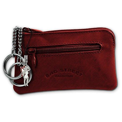 SilberDream Schlüsseltasche Echtleder, glattes Leder Etui OPJ900X, Rotbraun, ohne -