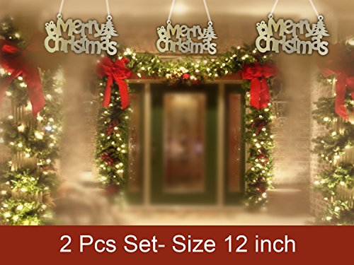 Christmas Wall Hanging Decorations.Unique Merry Christmas Wall Hanging Golden Christmas Wall Decorations Hanging Gifts Living Room Bedroom Windows Wall Stickers Shop Home Decoration