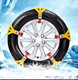 MASO Snow Chains 8Pcs Anti-Skid Snow Chains for Tyres Portable Easy to Mount
