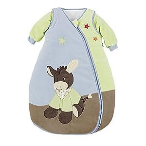 Sterntaler Saco de dormir de bebé, Mangas amovibles, Termorregulación, Con Cremallera, Tamaño: 90 cm, Burro Emmi…