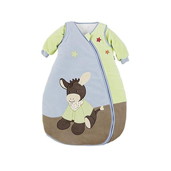 Sterntaler Saco de dormir de bebé, Mangas amovibles, Termorregulación, Con Cremallera, Tamaño: 90 cm, Burro Emmi, Multicolor