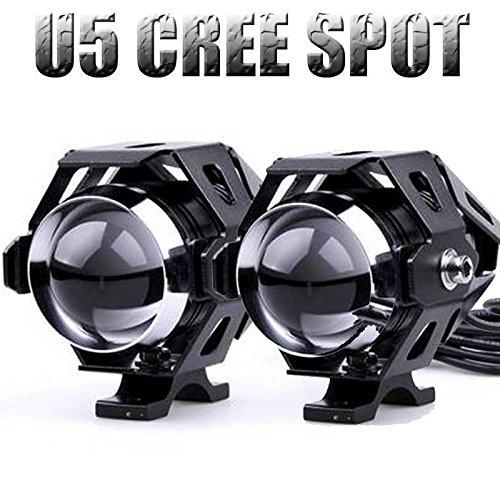 2pcs universal 125 W negro/plata impermeable con la moto moto faro LED...