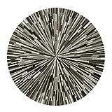 ZXUE Geometrische gestreifte Teppich einfache Runde Teppich Studie Computer Tisch und Stuhl Matte nordischen Stil Schlafzimmer Nachttisch Wohnzimmer Rutschfeste Teppich (größe : 80cm(31inch))