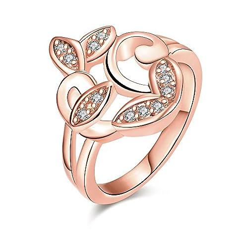 diidd Ring hohe Qualität Nickelfrei Antiallergic New Fashion Schmuck 18K vergoldet Zirkon Ring 36 White rose gold