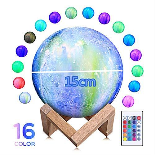 TVKL Luce notturna Stampa 3D chiaro di luna 18cm 15cm 12cm colorata conversione creativa tocco USB notte decorazione decorazione regalo di compleanno creativo Federazione russa 15CM 16colore blu
