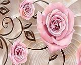 Mbwlkj Zimmer Wohnzimmer Hintergrund Dekoration 3D Tapete Marmor Rose Moderne Stein Textur Fototapete 3D Tapete-300cmx210cm
