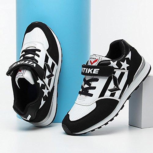 ASHION Kids Shoes Solid Scarpe Sneakers traspirante Moda per bambini nero