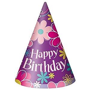Ênicos fiesta de cumpleaños del flor de los sombreros del partido (paquete de 8)