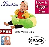 #1: Besties Baby Soft Plush Cushion Cotton Baby Sofa Seat Infant Safety Car Chair Learn to Sit Stool Training Kids Support Sitting for Dining - Various Colours & Designs