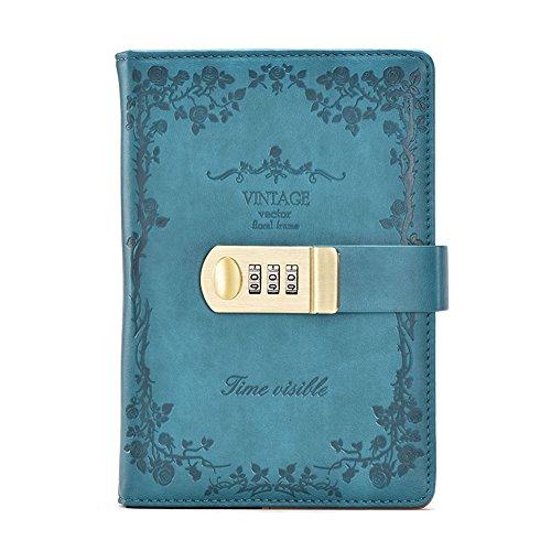 toim B6Größe PU Leder Vintage Passwort Tagebuch, Business Tagebuch Schreiben Notebook Fashion...