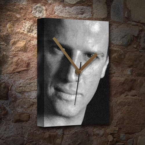 H720 (4 SEASONS) CHRISTOPHER LAMBERT - Canvas Clock (A4 - Signed by the Artist) #js002