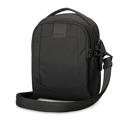 PacSafe Metrosafe LS100 Anti-Theft Cross Body Bag Umhängetasche, 23 cm, 3 liters, Schwarz (Black 100)