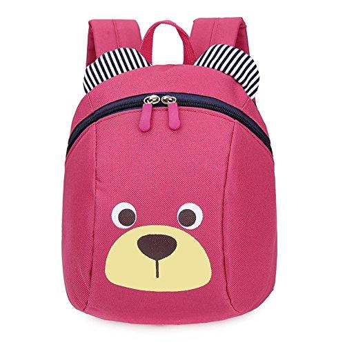 *FRISTONE Mini-sac à dos école Maternelle Enfant Bébé Filles tout-petit Sac Garçons Kindergarten Backpack Toddler avec sangles de sécurité,Rose Rouge Magasin en ligne