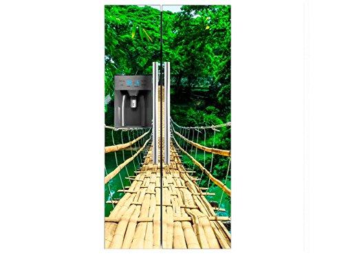 Vinilo Frigorífico Americano Puente Colgante | 91x179cm | Varias Medidas | Pegatinas...