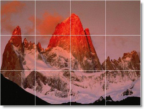 MOUNTAIN CUADRO TILE MURAL M041  36X 48CM CON (12) 12X 12AZULEJOS DE CERAMICA