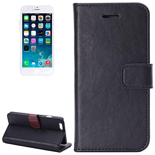 MXNET Crazy Horse Texture Horizontale Flip Leder Tasche mit Card Slots und Halter, Case für iPhone 6 & 6s ,Iphone 6/6s Case ( Color : Red ) Black