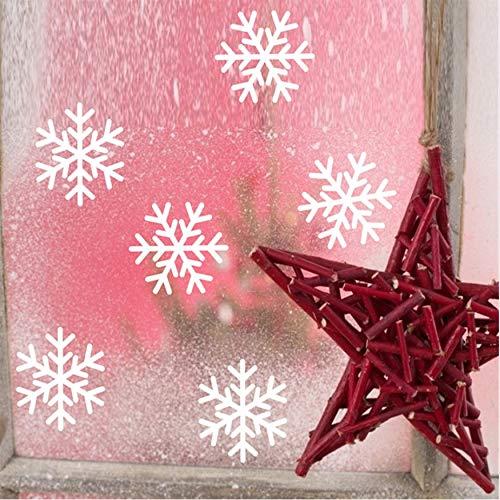 fqz93in Tapeten Sticker Weihnachts- Und Neujahrsdekorationspaste 6 Stück Schneeflocke-Sticker Für Fenster/Vitrine Wandaufkleber