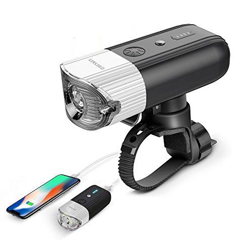 shenkey Faro Delantero para Bicicleta, USB Recargable LED Faro lámpara para Bicicleta Potente,luz Multi Modos de Iluminación antigolpes Impermeable IP65completar un Ciclo