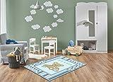 Keymura Moderner Teppich mit schönem Druck/Design It's a Boy Teddy Bär | Größe: 120x170 cm - Qualität, Design, Modern zu einem Hammerpreis! Für Kinderzimmer, Wohnzimmer, Flur, Schlafzimmer geeignet!