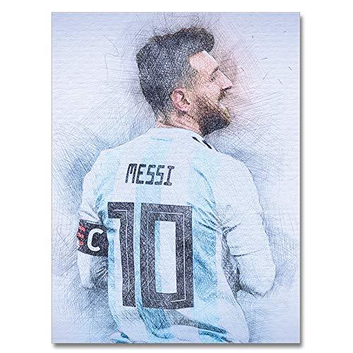 ULIIM Messi Poster Soccer Star Resumen Deportes Seda