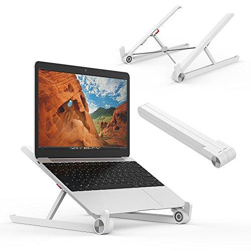 AUBEBE Soporte Portatil Ordenador Ajustable Plegable Soporte para Portátil/Notebook/Macbook Air hasta 15.6 Pulgadas de Laptops
