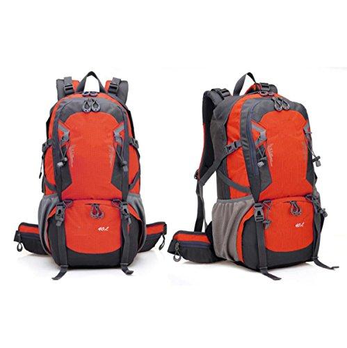 40L Outdoor Sports Wasserdichte Radfahren Tasche Wandern Camping Rucksack Reise Rucksack,Red Red