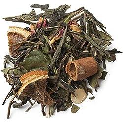 Aromas de Té - Té Verde Y Blanco Andalusí con Trozos de Canela Lemongrass Almendra Naranja Capullos de Rosa/para Deleitar los Sentidos y Disminuir el Estrés, 75 gr