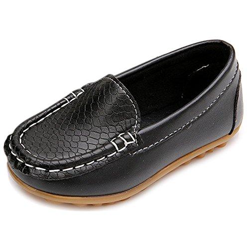 Eagsouni® Jungen/Mädchen Fancy Comfort Mokassin PU Leder Loafers Kinder Erbsenschuhe Flache Bootsschuhe Halbschuhe