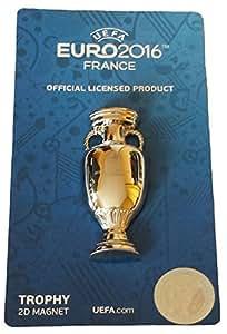 2D Magnet Pokal-Nachbildung für Fußball-Europameisterschaft 2016, Nationalmannschaft Frankreich, offizielle Kollektion