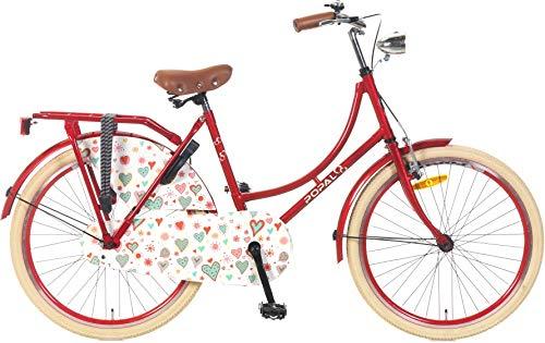 Bicicletta Olandese Da Ragazza 24 Pollici Popal Omafiets Om24 Rot