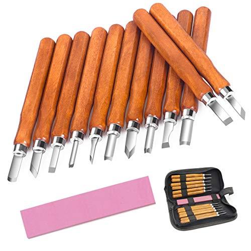 McDoo! Holz-Schnitzwerkzeug Set - 12 tlg Holzschnitzerei