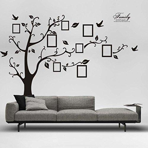 Wand Aufkleber, Transer® 180* 250cm Wandtattoo 3D DIY Foto Baum PVC Wandtattoo Aufkleber Wandsticker Wandbild selbstklebend Art Home Decor Abnehmbare Wandaufkleber (Home Decor Bäume)