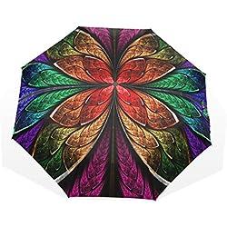 Paraguas con Flor Fractal Grande