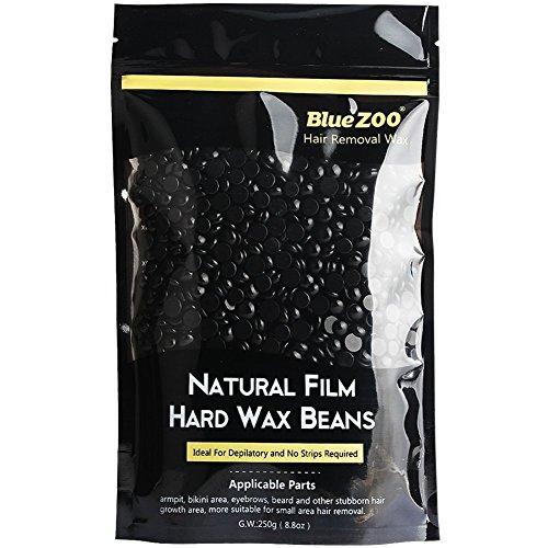 Bluezoo Perles de Cire à Épiler Pliable pour Épilations sans Bandes 250 g Noir