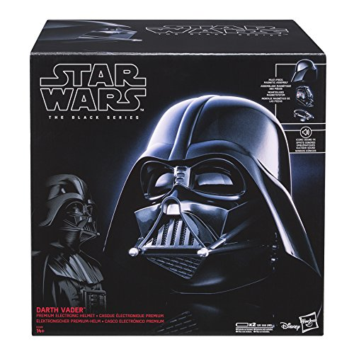 Hasbro E0328EU4 - Star Wars The Black Series Replica Darth Vader Helm (Darth Vader Ohne Maske Kostüm)