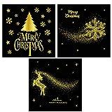 Best Cadeaux Boutique Décorations de Noël - BESTOYARD Fenêtre de Noël Stickers Boutique Fenêtre Stickers Review