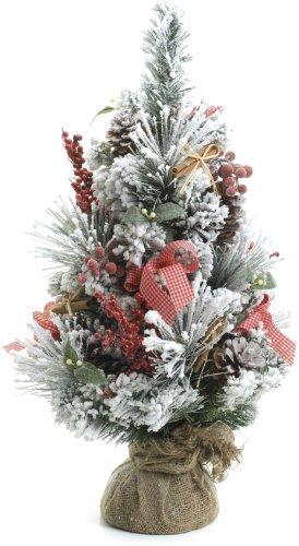 Festive productions ltd - albero di natale da tavolo con punte imbiancate e bacche