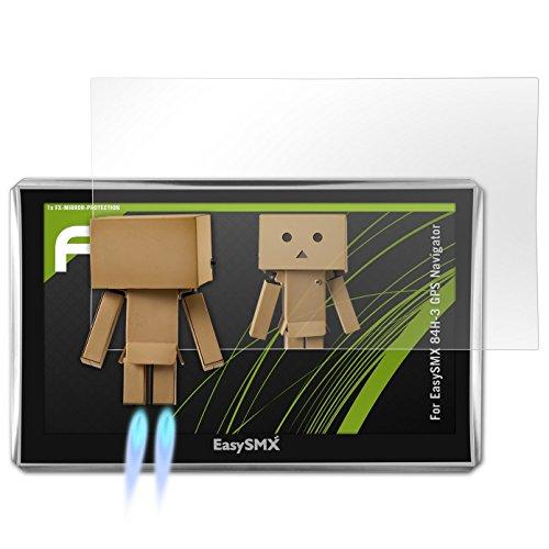 atFoliX Protection d'écran pour EasySMX 84H-3 GPS Navigator Miroir Film Protecteur - FX-Mirror Film Protecteur avec effet miroir