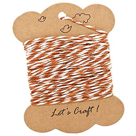 Bakers Twine Brown & White Cotton String 8 Ply 9M