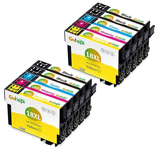 Gohepi 18 XL Alta Capacidad Cartuchos tinta