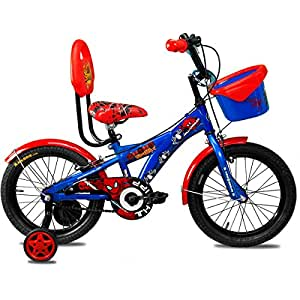 Hero Disney 16T Marvel Ultimate Spiderman Junior Cycle With Carrier  8.5-inches (Blue)