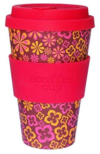 Ecoffee Mehrweg-Becher, 400ml, wiederverwendbare Tasse mit Silikon-Deckel, hergestellt mit natürlicher Bambus-Faser, verschiedene Farben Yeah Baby!