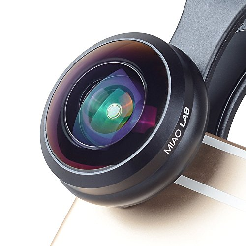Galleria fotografica MIAO LAB HD Universal Wide Angle Fisheye Lens 238 ° Clip di Vista sul Kit Cellulare Kit per lenti per iPhone 6 / 6S Plus SE Samsung Galaxy S7 / S7 Edge S6 e S6 Edge S8 e la maggior parte Smartphone Nessun cerchio scuro