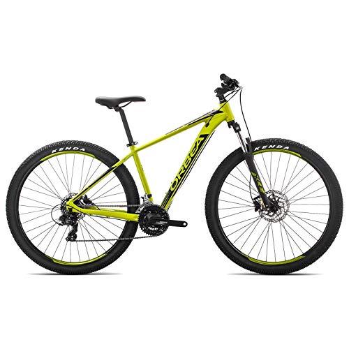 ORBEA MX 60 M Fahrrad 29 Zoll 21 Gang Aluminium Rad Mountain Bike MTB Shimano Herren Damen, J20617, Farbe Pistazie Schwarz (Mountain Bike 29 Zoll Shimano)
