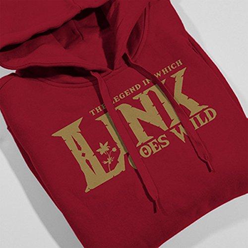 Legend of Zelda Breath Link Goes Wild Women's Hooded Sweatshirt Cherry Red