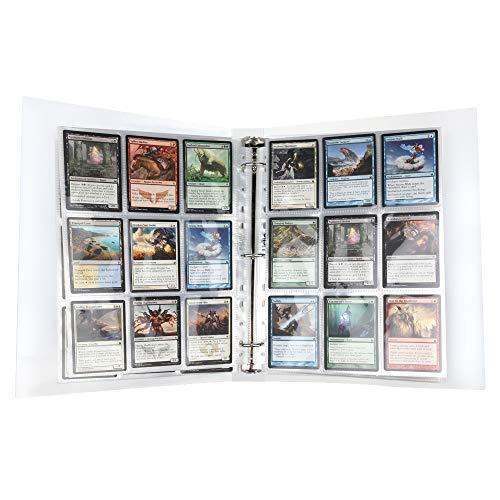 Lictin 540 Pochettes pour Cartes Collection de Pages D'album, Neutres, Transparente, Accessoires de Cartes à Collectionner Jeu de Cartes Porte-Cartes Ensemble de Pages