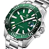 Pagani Design Herren Klassische Taucher-Serie Mechanische Uhren Wasserdicht Edelstahl Marke Luxus Armbanduhr Herren - grün