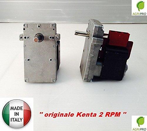Kenta Motor mit Getriebe K 911 7055, für Pelletofen / Pelletsförderschnecke, 2 U/Min, hergestellt in Italien (Motor Für Pelletofen)
