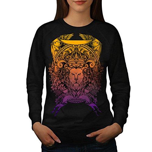 King Animal Lion Face Mad Women M Sweatshirt | Wellcoda